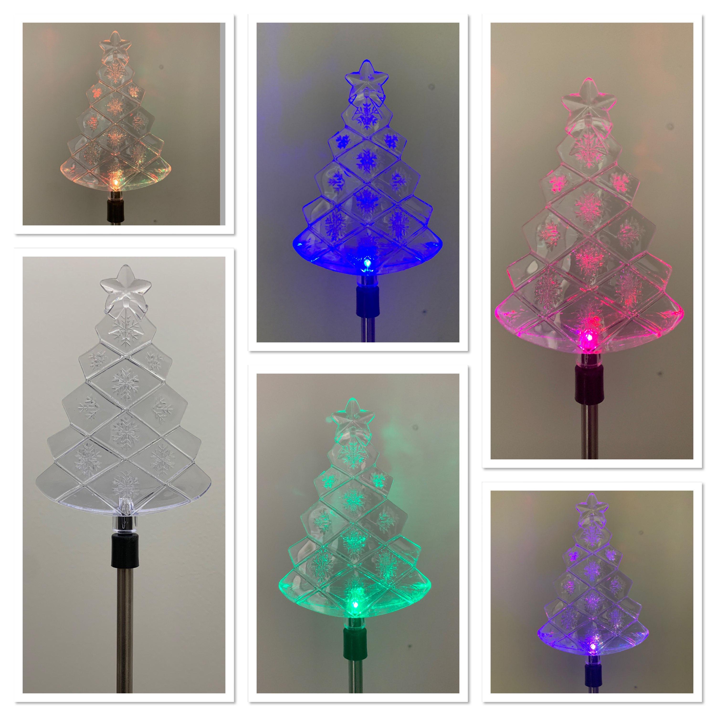Solar Christmas Tree Stake Cheap Carls